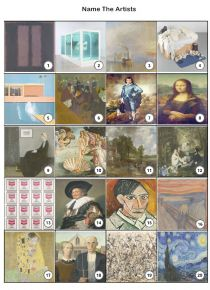 Name The Artists Picture Quiz - PR1960
