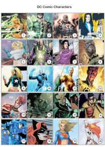 DC Comic Characters - PIcture Quiz PR1970