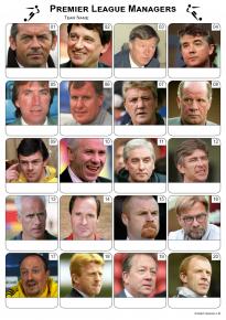 Premier League Managers Picture Quiz - PR1984