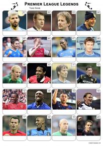 Premier League Football Legends Picture Quiz - PR1986