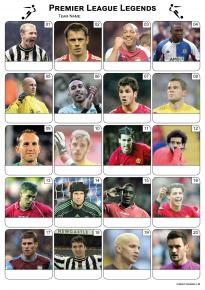 Premier League Football Legends Picture Quiz - PR1987