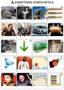 Everything Starts With 'A' - PIcture Quiz PR2007