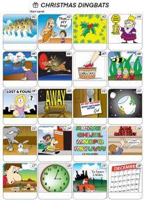 Christmas Dingbats Picture Quiz - PR2009