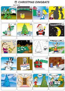 Christmas Dingbats Picture Quiz - PR2012