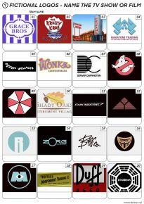 Fictional Logos Picture Quiz - PR2024