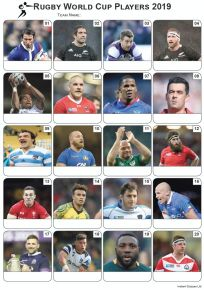 Rugby World Cup 2019 Players Picture Quiz - PR2027