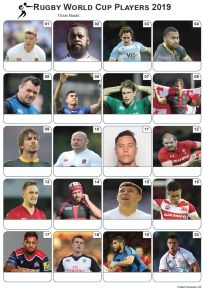 Rugby World Cup 2019 Players Picture Quiz - PR2028