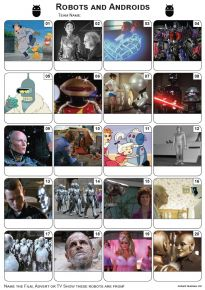 Robots and Androids Picture Quiz - PR2032