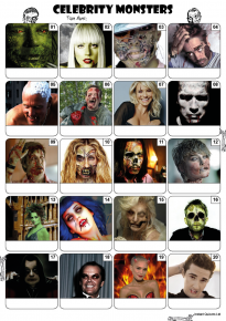 Celebrity Monsters Picture Quiz 2