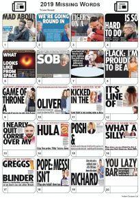News Headlines of 2019 Picture Quiz - Missing Words - PR2082