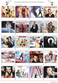 James Bond Film Posters Picture Quiz - PR2083
