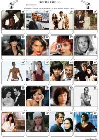 James Bond Girls Picture Quiz - PR2084