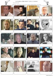 James Bond Villains Picture Quiz - PR2086
