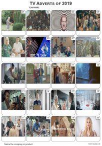 TV Adverts 2019 Picture Quiz - PR2103