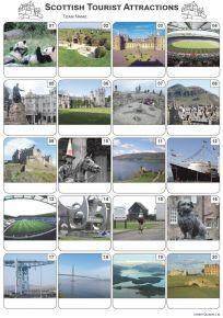 Scottish Tourist Attractions Picture Quiz - PR2119