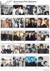 Scottish Pop Groups Picture Quiz - PR2121