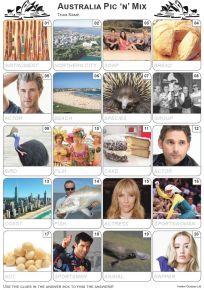 Australian Pic 'n' Mix Picture Quiz - PR2122