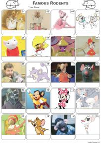 Famous Rodents Picture Quiz - PR2124