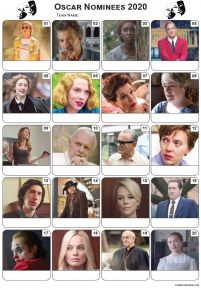 2020 Academy Award Nominees Picture Quiz - PR2127