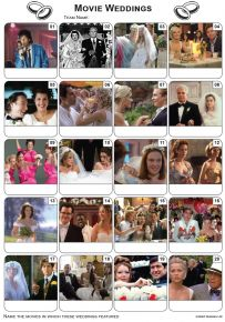 Movie Weddings Picture Quiz - PR2131