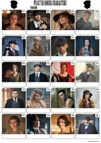 Peaky Blinders Picture Quiz - PR2153