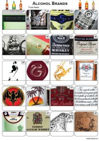 Alcohol Brands Picture Quiz - PR2158