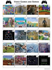 Video Games Picture Quiz - PR2160