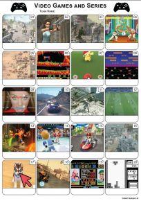 Video Games Picture Quiz - PR2161