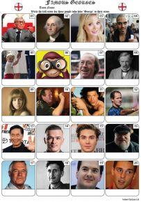 Famous Georges Picture Quiz - PR2162
