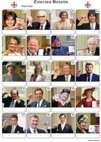 English Heroes Picture Quiz - PR2165