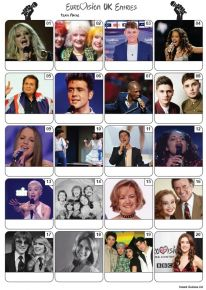 UK Eurovision Song Contest Entries Picture Quiz - PR2169