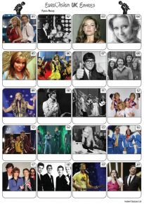 UK Eurovision Song Contest Entries Picture Quiz - PR2170