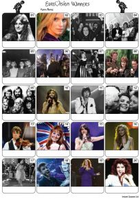 Eurovision Song Contest Winners Picture Quiz - PR2171