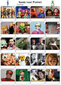 Puppets Picture Quiz - PR2174