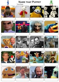 Puppets Picture Quiz - PR2175