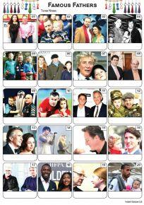 Famous Fathers Picture Quiz - PR2180