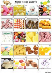 Sweets Picture Quiz - PR2182