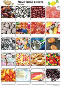 Sweets Picture Quiz - PR2183