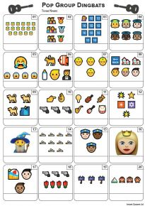 Emoji Pop Groups Picture Quiz - PR2186