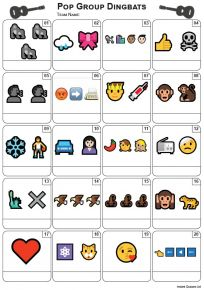 Emoji Pop Groups Picture Quiz - PR2187
