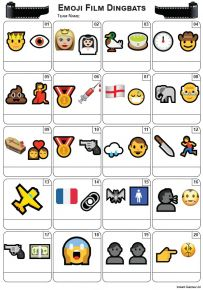 Emoji Films Picture Quiz - PR2188
