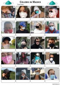 Celebrities In Masks Picture Quiz - PR2192