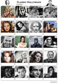 Classic Hollywood Picture Quiz - PR2193