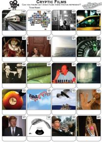 Cryptic Films Picture Quiz - PR2198