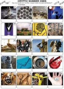 Cryptic Number Ones Picture Quiz - PR2199