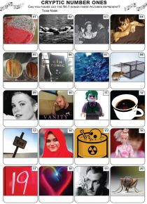 Cryptic Number Ones Picture Quiz - PR2200