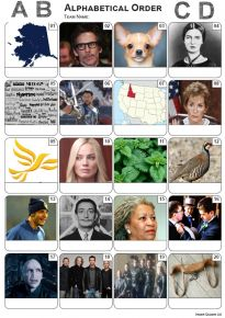 Alphabetical  Picture Quiz - PR2203