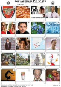 Alphabetical  Picture Quiz - PR2211