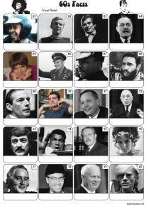 Faces of the 1960s Picture Quiz - PR2212