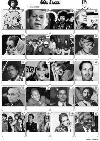 Faces of the 1960s Picture Quiz - PR2213